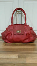 TOP QUALITY EXPENSIVE FULLY LINED RED HANDBAG SHOULDERBAG with beautiful detail
