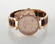 Michael Kors MK5538 Parker Chronograph Tortoise Acetate Rose Gold Dial Watch