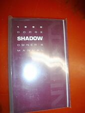 1990 DODGE SHADOW ORIGINAL FACTORY OPERATORS OWNERS MANUAL PACKAGE NOS