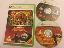 XBOX 360 Games Twinpack Bundle LEGO INDIANA JONES ORIGINAL ADV' + KUNG FU PANDA