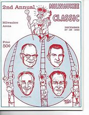 1963 Milwaukee Classic Doubleheader Program Wisconsin Marquette Dartmouth Tech!!