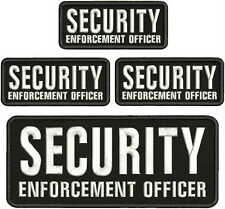 SECURITY ENFORCEMENT OFFICER Embroidery patches 4x10 And  2x5 hook on backEHITTE