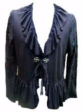 Black Gothic Ruffle Bolero Shrug cardigan victorian steampunk evening plus wicca