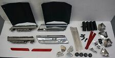 Chrome Latches Cover Hinge Saddlebag Latch Hardware Set Kit 4 Harley Saddlebags