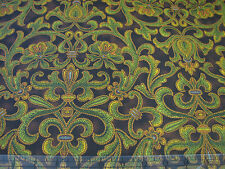 3 Yards Quilt Cotton Fabric- RJR Jinny Beyer Corsica Floral Swirls Olive Brown
