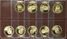 2000, 2001-2008, S GEM PROOF DCAM SACAGAWEA GOLDEN DOLLARS 9 coin set