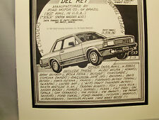 1984 Ford Del Rey      Auto Pen Ink Hand Drawn  Poster Automotive Museum