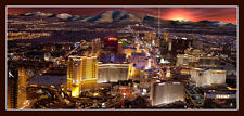 "Las Vegas Strip from Helicopter Panoramic Photo, Poster 17.25"" x 36"""