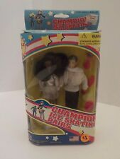 "Vintage Championship ice skating pair dolls 6"" figures New in Box Olympics"