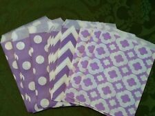 15 paper candy bags purple chevron & other 5 x 7  buffet party favor wedding