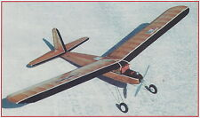 1/2A Texaco Dallaire Sportster Old Timer Plans, Templates and Instructions