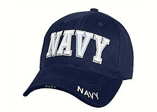 Navy Embroidered Ball Cap Low Profile Blue Hat USN DDG CG LHA CVN LHD Seal USA