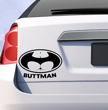 Buttman car sticker vinyl decal funny humor JDM window uk batman logo