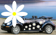 32,NEW WHITE & YELLOW DAISY CAR DECALS,STICKERS,GRAPHICS,BEETLE