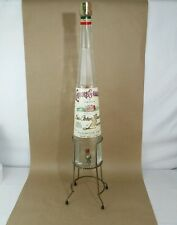 "27"" Liquore Galliano 1 Gal.Glass Empty Bottle ""Ditta Arturo Vaccary Italy Stand"