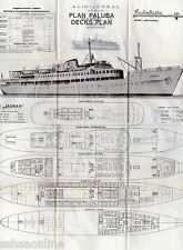 SS JADRAN Deck Plan, Once a Toronto Restaurant, Now Closed - I SHIP WORLDWIDE