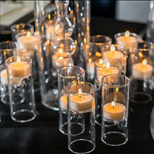 24 Blown Glass Mini Tealight Luminaries Wedding Decorations Centerpieces Q17641