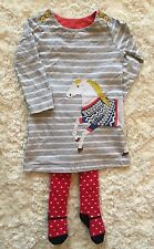 Mini Boden Dress and Tights 18-24M