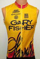 vtg Gary Fischer GOLD SLEEVELESS Cycling Jersey M MED full zipper imba rock shox