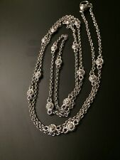 """Judith Ripka Sterling Silver Swirl 16-Station 36"""" Chain Necklace"""