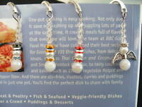 snowman pearl crystal tibetan silver handmade bookmark christmas gift wedding