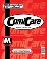 COMICCARE 100 MAGAZINE SIZE COMIC BOOK BAGS & BOARDS PP
