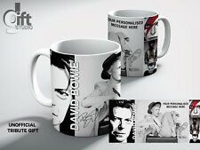 DAVID BOWIE  Personalised  TRIBUTE White Coffee MUG GIFT, GREAT GIFT