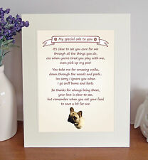 "French Bulldog 10"" x 8"" Free Standing 'Thank You' Poem Fun Gift FROM THE DOG"