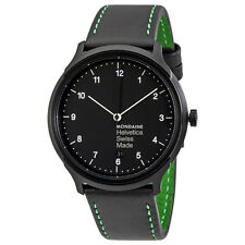 Mondaine Helvetica No1 New York Black Dial Mens Watch MH1.R2221.LB
