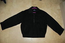 Dark Charcoal Black RECHERCHE Wool  Zip Front Lined Jacket US 38 EU 100 Med