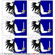 CONNACHT Province Flag IRELAND 40mm Mobile Cell Phone Mini Stickers, Decals x6