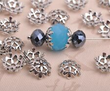 50pcs 10mm Tibetan Silver Flower Bead Caps Metal Spacer Beads Jewelry Findings