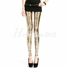 NEW Women Sexy Snake Pattern Printing Leggings Skinny Stretchy Trousers Pants