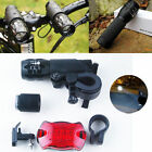 2x CREE Q5 7W LED Cycling Torches Bike Head/Front Light + Rear Lamp Flashing UK