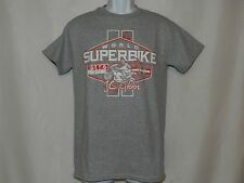 Men's Graphic Tee OCTANE Gray/Red World Superbike AMA T-Shirt