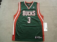 Authentic Adidas Brandon Jennings Jersey size 40 Milwaukee Bucks NBA Rookie