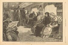 Legislative Train From Albany To New York, Playing Cards, 1888 Antique Art Print