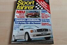 125951) Saab 900 Turbo 16 S - Peugeot 505i Turbo TEST - Sport Fahrer 04/1984