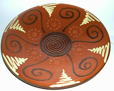 Spanish Studio Pottery -Vintage Puigdemont Wall Plaque - Fully Signed EXC COND