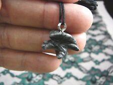 (an-eag-3) EAGLE GRAY BLACK Hematite carving Pendant NECKLACE FIGURINE gem