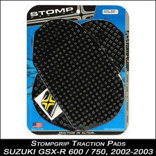 STOMPGRIP Pads de tracción,SUZUKI GSX-R 600/750,02-03,negro,Tapa de tanque,