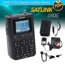 "Satlink WS-6906 3.5"" DVB-S FTA Digital Signal Finder Satellite Meter UK Plug"