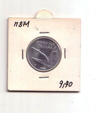 Repubblica Italiana 10 lire 1952    Spighe  Italma     SPL/FDC    (m871)