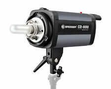 Bresser CD-600 600W Studio Flash head luz estroboscópica Digi-Display enfriado por ventilador