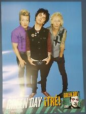 Green Day - iTRE! OFFICIAL POSTER *HARD TUBE CASE* UNFOLD