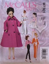 """11 1/2"""" FASHION DOLL CLOTHES   McCall's Sewing Pattern 7301 NEW Uncut"""