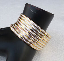 """Lot! 8Pc Bollywood Indian Designer Gold Plated American Style Bangles Set 2.12"""""""