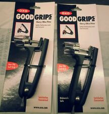 2 pack Oxo Good Grips Cherry Olive Pitter 5-3/4 in. Zinc Black