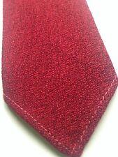 Vintage 1960's Munro Spun Dark Red Wool  Skinny Tie