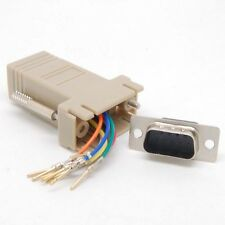 Extender new male DB9 to RJ45 Female RS232 Female Adapter Connecter Convertor